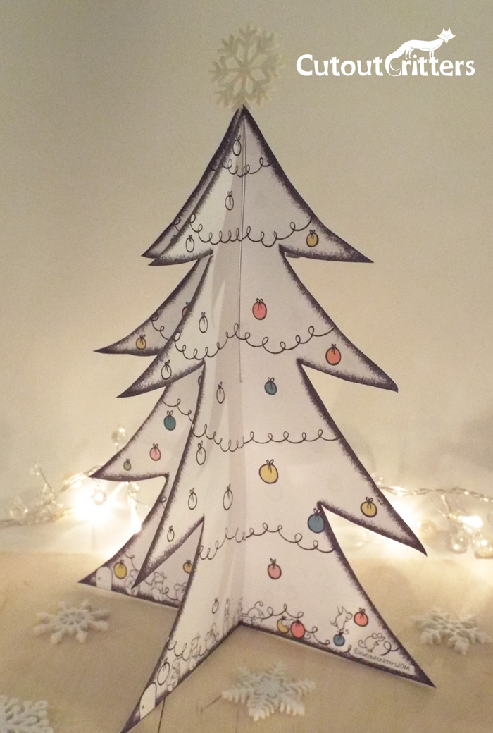 FREE Christmas tree template Cutout Critters – Free Christmas Tree Templates